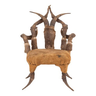 Rustic Horn & Antler Child's Arm Chair For Sale