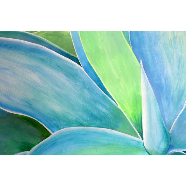 """Agave Number Five"" Acrylic Painting - Image 8 of 9"