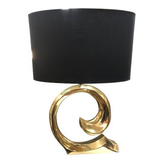 1960s Mid-Century Modern Solid Brass Pierre Cardin Lamp For Sale