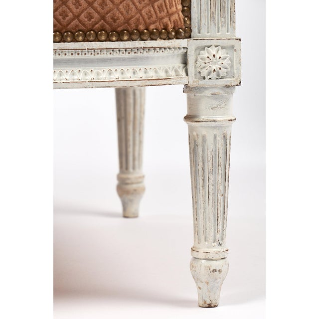 Wood Antique French Louis XVI Style Bergère For Sale - Image 7 of 7