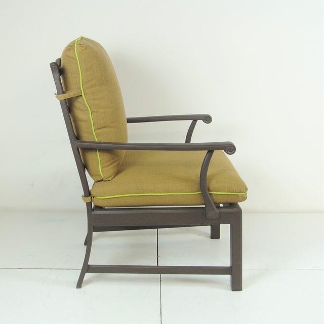 Arlington Club Chair W/ Custom Fit Sunbrella Cushion For Sale In Los Angeles - Image 6 of 8
