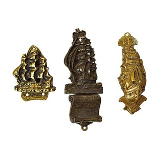 English Ship Door Knockers, S/3 For Sale