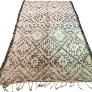 "Authentic Beni Ourain Rug - 5'8"" x 9'4"""