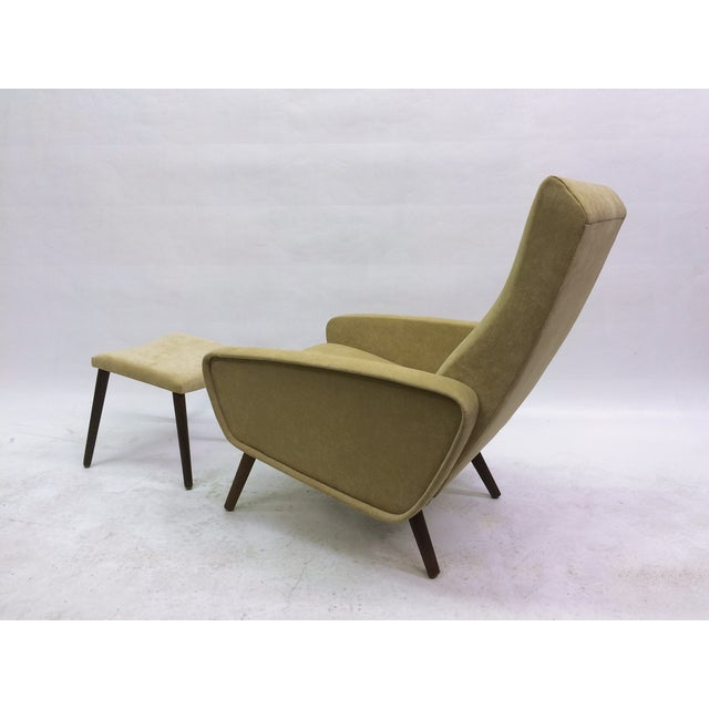 Mid-Century Italian 1950s Recliner With Ottoman - Image 6 of 6