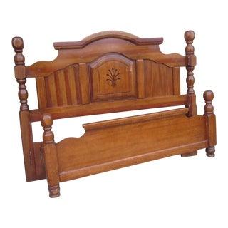 Antique Rustic Solid Wood Queen Bedframe