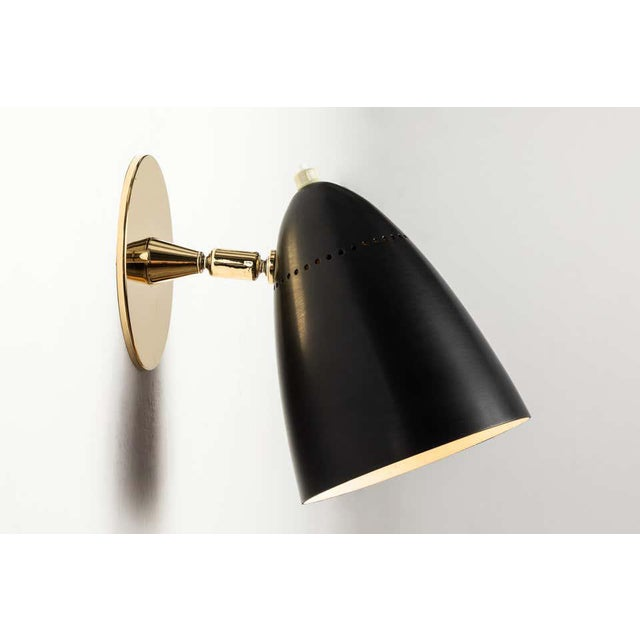 Metal 1950s Mid-Century Modern Sconces by Gino Sarfatti for Arteluce - a Pair For Sale - Image 7 of 12