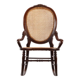 Victorian Walnut Lady's Rocking Chair For Sale