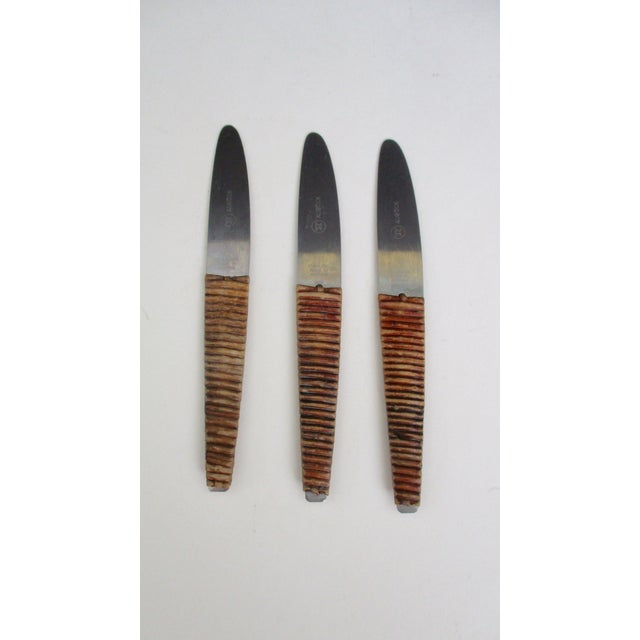 Metal Carl Aubock Austria Steel and Rattan Knife For Sale - Image 7 of 10