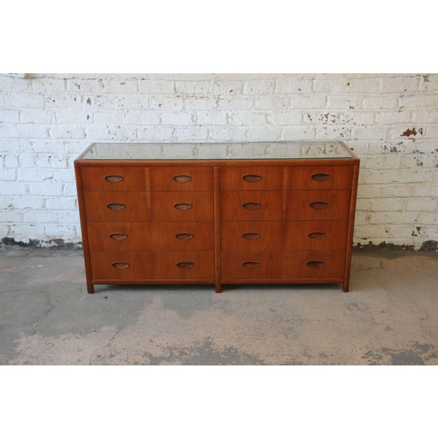 Brown Michael Taylor for Baker New World Collection Eight-Drawer Dresser or Chest For Sale - Image 8 of 11