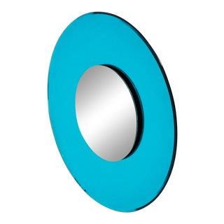 Mirror Blue Contemporary Fashion in Style Fontana Arte by Effetto Vetro, 2010 For Sale