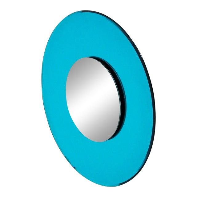 Mirror Blue Contemporary Fashion in Style Fontana Arte by Effetto Vetro, 2010 For Sale