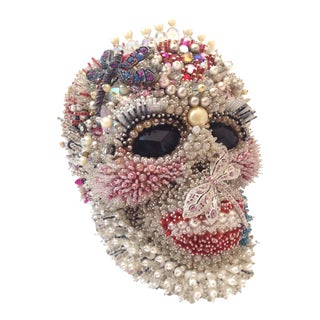 Anne Boleyn Life-Size Beaded Skull For Sale