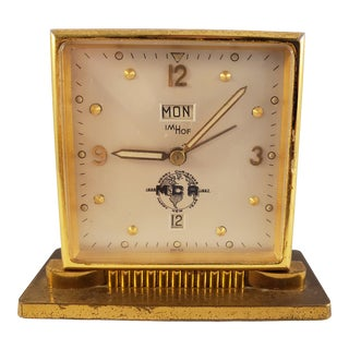 Very Imhof Swiss Brass Clock For Sale
