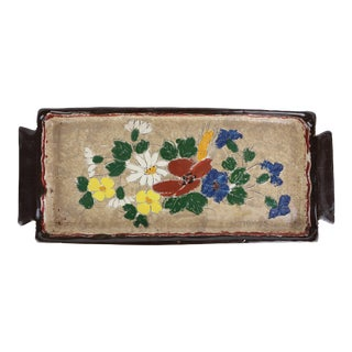 1950s Vallauris Enameled Ceramic Plate by J. Massier For Sale