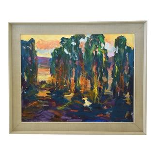 Ojai California Impressionist Landscape Painting by Juan Guzman For Sale