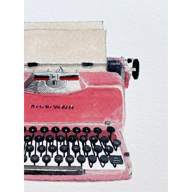 Inspired by Felix's appreciation of vintage typewriters, this painting takes its cue from the mid-century typewriters. The...