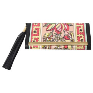 Emilio Pucci Silk and LeatherClutch and or Wallet For Sale