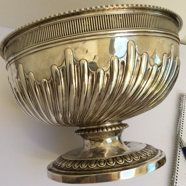 Antique English Sterling Silver Punch Bowl For Sale - Image 10 of 11