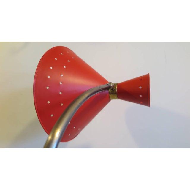 Metal 1950 Maison Lunel Floor Lamp For Sale - Image 7 of 10
