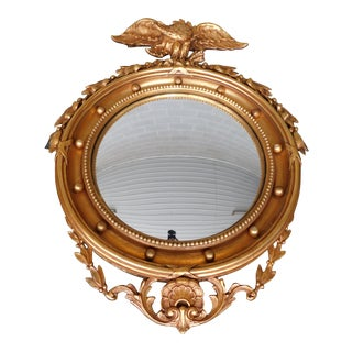 "Freidman Brothers Federal Style Eagle Crested Bullseye Mirror 27""w X 36""h For Sale"