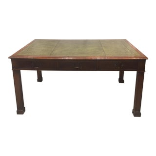 Early 20th Century Antique Mahogany Library Table For Sale