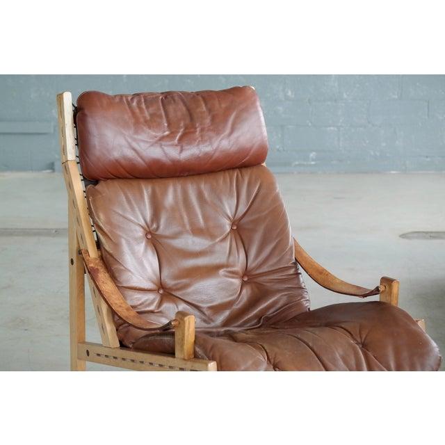 Bruksbo Midcentury Easy Chair Model Hunter by Torbjørn Afdal for Bruksbo, Norway For Sale - Image 4 of 9