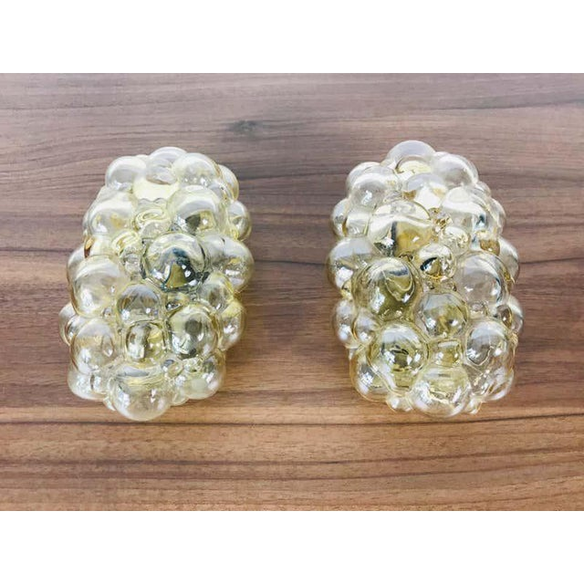 1960s Pair of Midcentury Bubble Glass Wall Lamps by Helena Tynell for Limburg, 1960s For Sale - Image 5 of 9