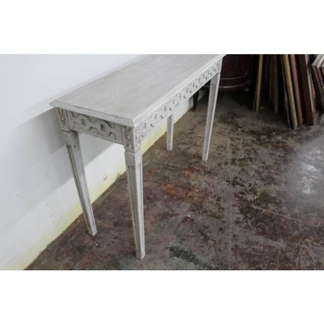 20th Century Vintage Swedish Gustavian Style Console Table For Sale In Atlanta - Image 6 of 9