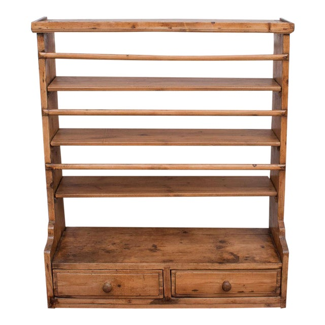 Pine Hanging Plate Rack For Sale