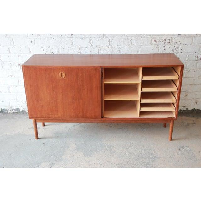 1960s Danish Modern Teak Sideboard Credenza For Sale - Image 5 of 10