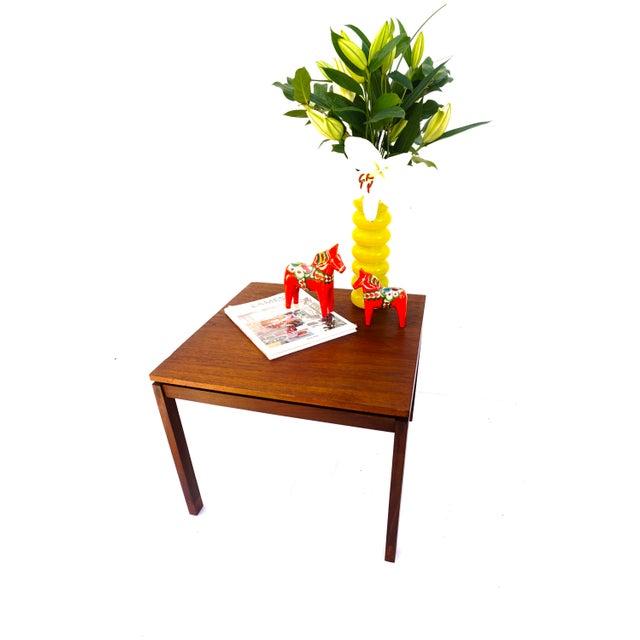 Hans Olsen Mid-Century Hans Olsen Teak End Table || Made in Denmark || One of Two For Sale - Image 4 of 13