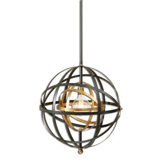 Large Round Orb Pendant Light For Sale