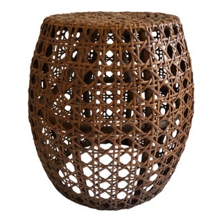 Cane Weave Rattan Stool For Sale