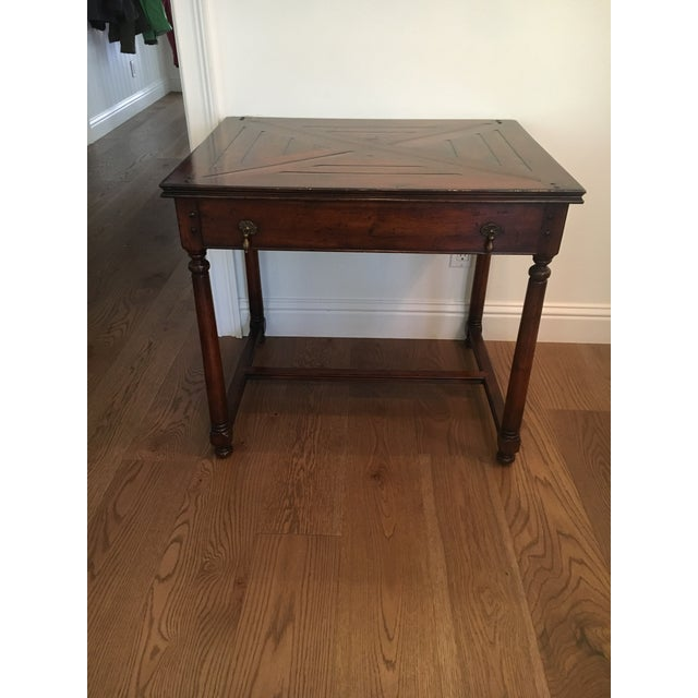 Traditional Wood Side Table For Sale - Image 4 of 4