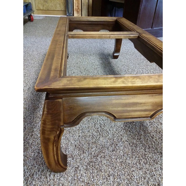 Mid-Century Chinese Classic Wood Coffee Table - Image 4 of 7