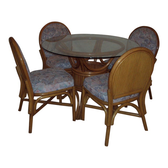 Vintage Mid-Century Bentwood Bamboo Dining Set - Image 1 of 5