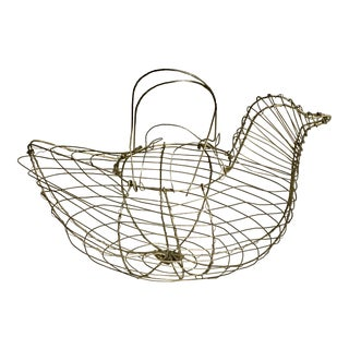 Wire Hen Chicken Egg Basket