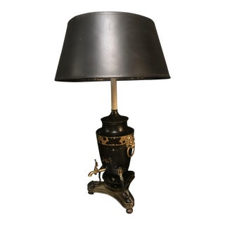 French Black Metal Lamp For Sale