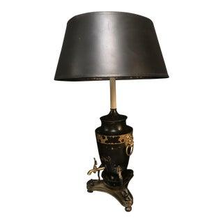 French Black Metal Lamp