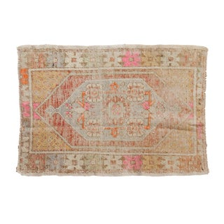 "Vintage Distressed Oushak Rug - 2'5"" X 3'5"" For Sale"