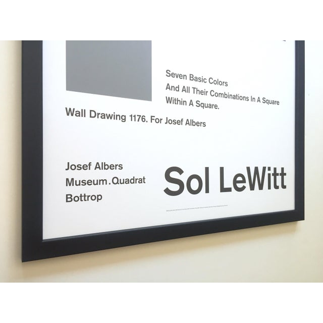 Wood Sol LeWitt Lithograph Print Josef Albers Museum Framed Minimalist Exhibition Poster For Sale - Image 7 of 13