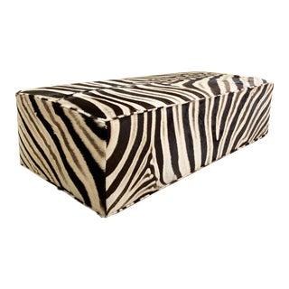 Forsyth Zebra Hide Ottoman For Sale