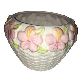 O'Brate Ceramic Floral Bowl For Sale