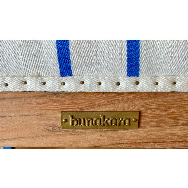 Bunakara Fingerprint Two Stripe Side Chair in Ultra Marine For Sale - Image 4 of 6