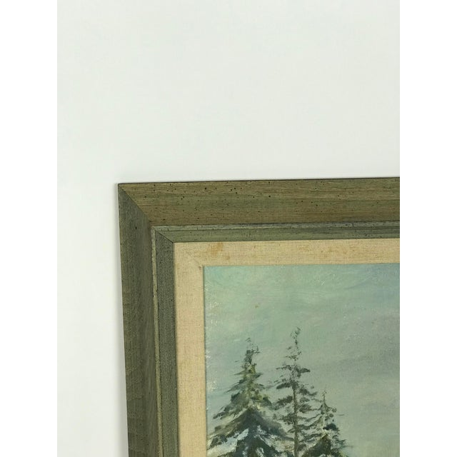 1960s 1960s Vintage Scenic Ocean Oil on Canvas Painting For Sale - Image 5 of 11