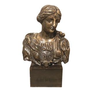 18th Century Carved Wooden French Bust