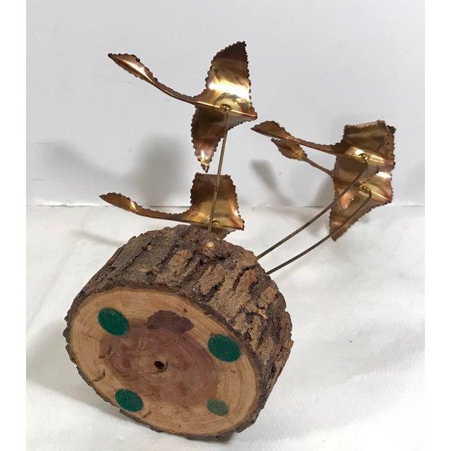 "Vintage Brutalist ""Geese in Flight"" Metal Sculpture For Sale - Image 10 of 11"