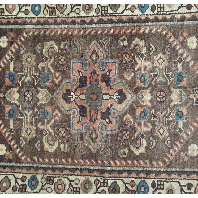 Vintage Hamadan Persian Rug - 1′11″ × 2′11″ - Image 5 of 9