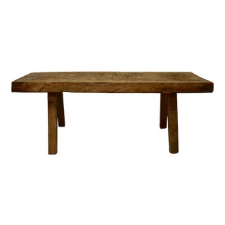 Oak Pig Bench Coffee Table