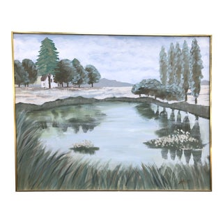 Mid Century Landscape Painting by Lee Reynolds For Sale